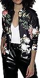 EUDOLAH Chaqueta de Punto Chaqueta de Punto con Cremallera Streetwear Primavera otoño(A-Negro,XL)