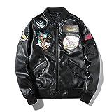 XOCAO - Chaqueta de hombre para hombre, diseño de aviación de piel de la fuerza aérea para Harley para motocicleta, modelo de pareja de...