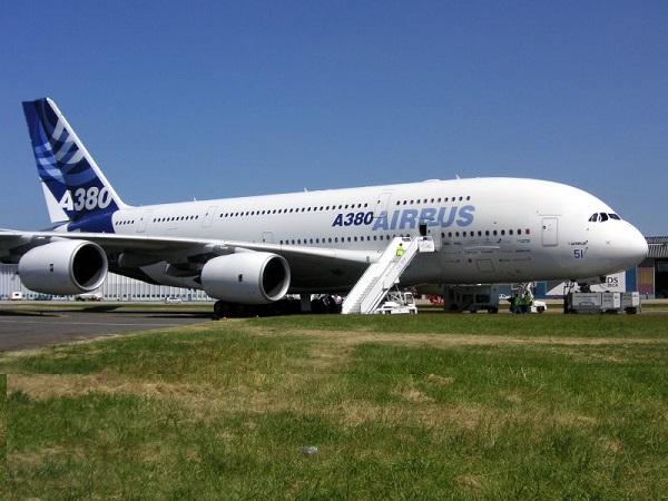 Tipos de aviones comerciales Airbus A380